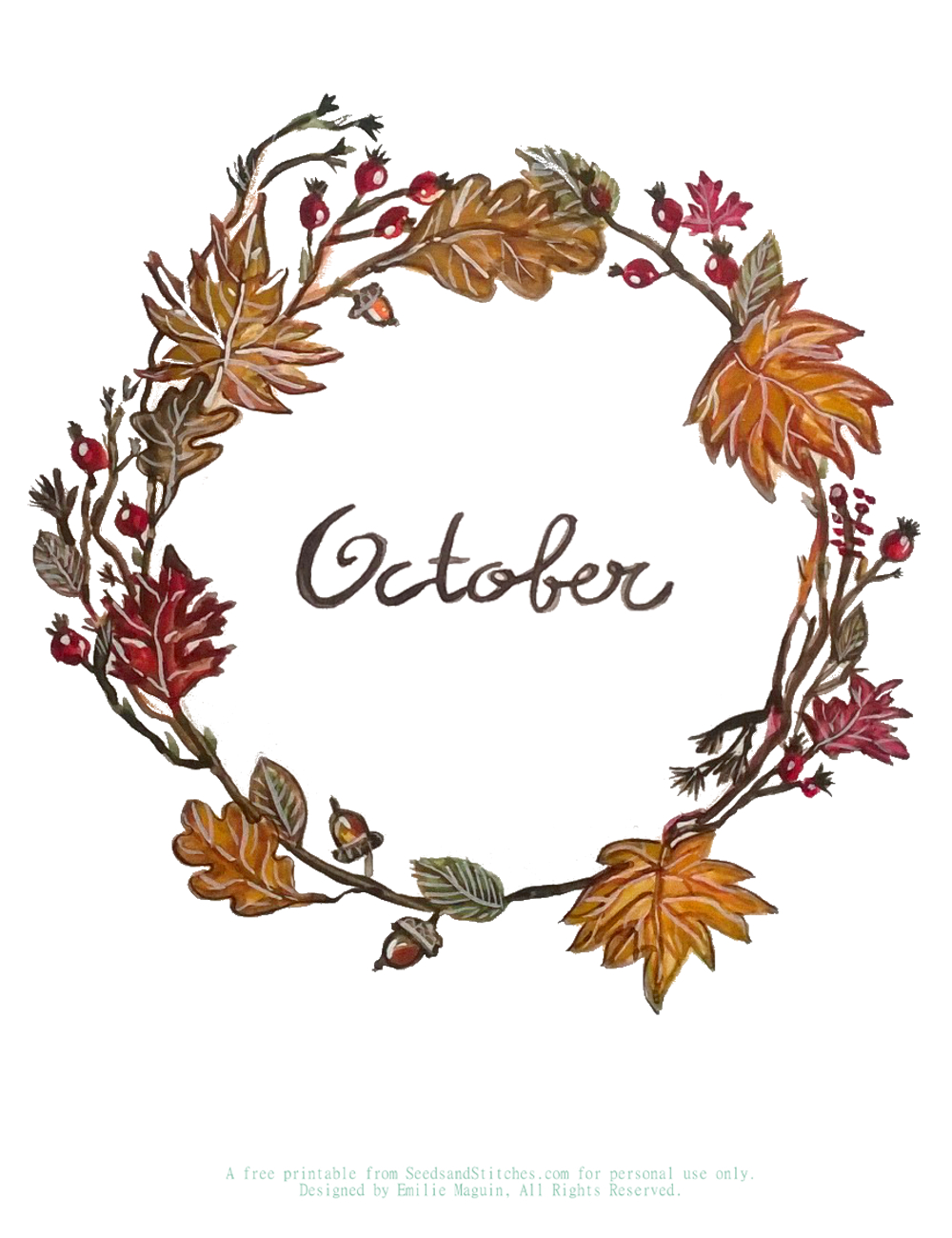 October. By Emilie Maguin | Hannah Bullivant