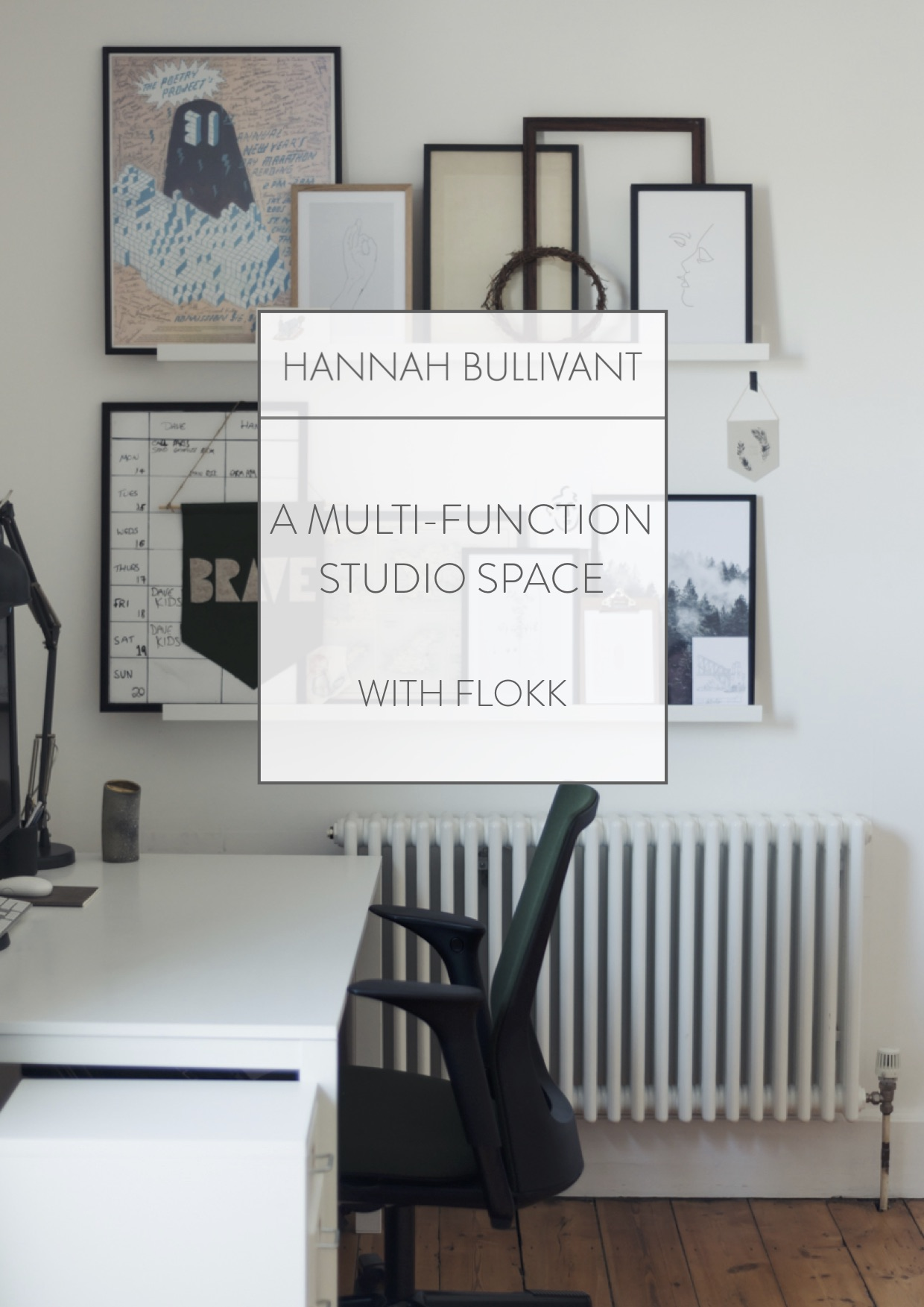 A Multi-function office space with Flokk chairs