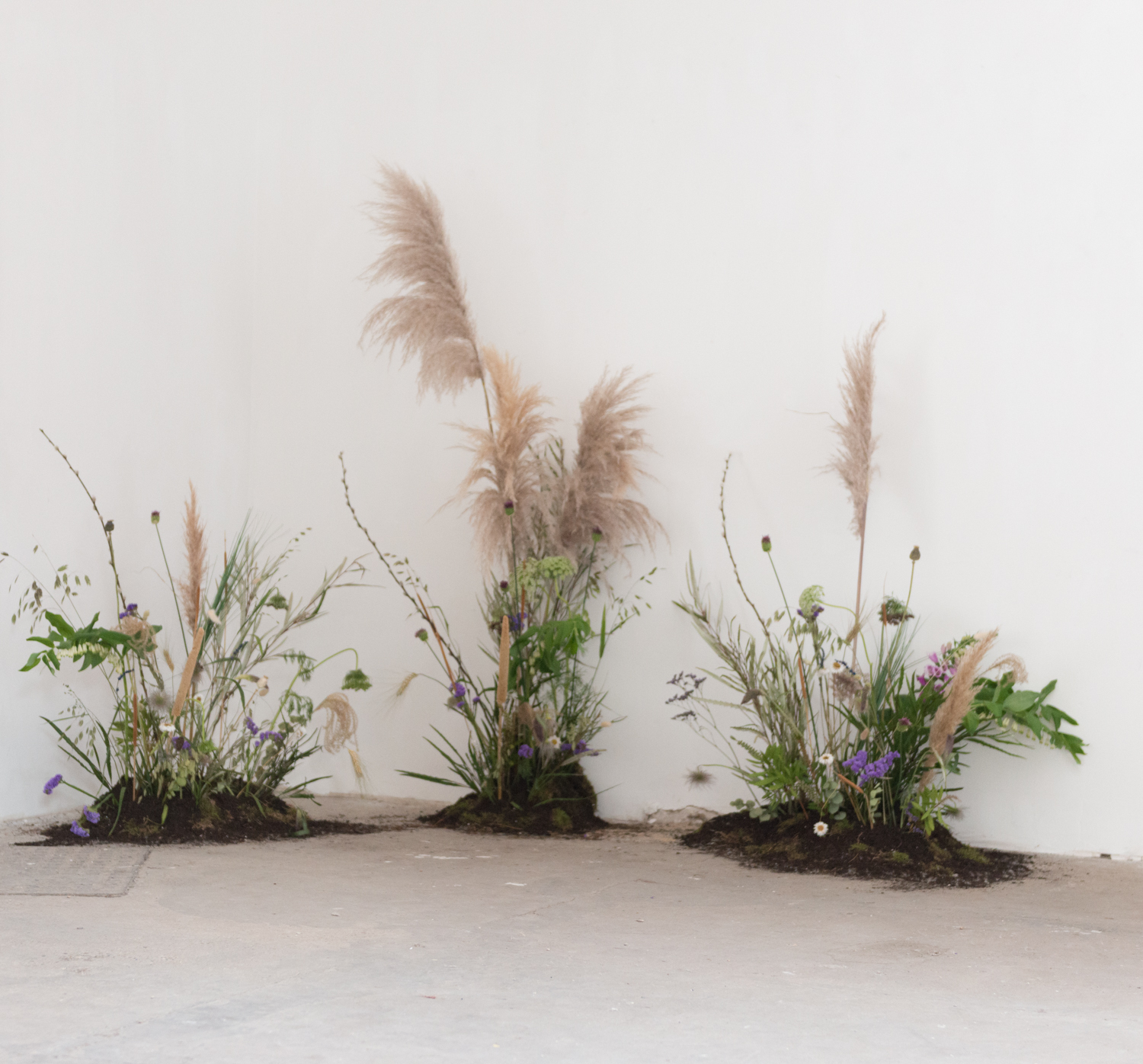 The florals in the exhibit are by Wallflower peckham
