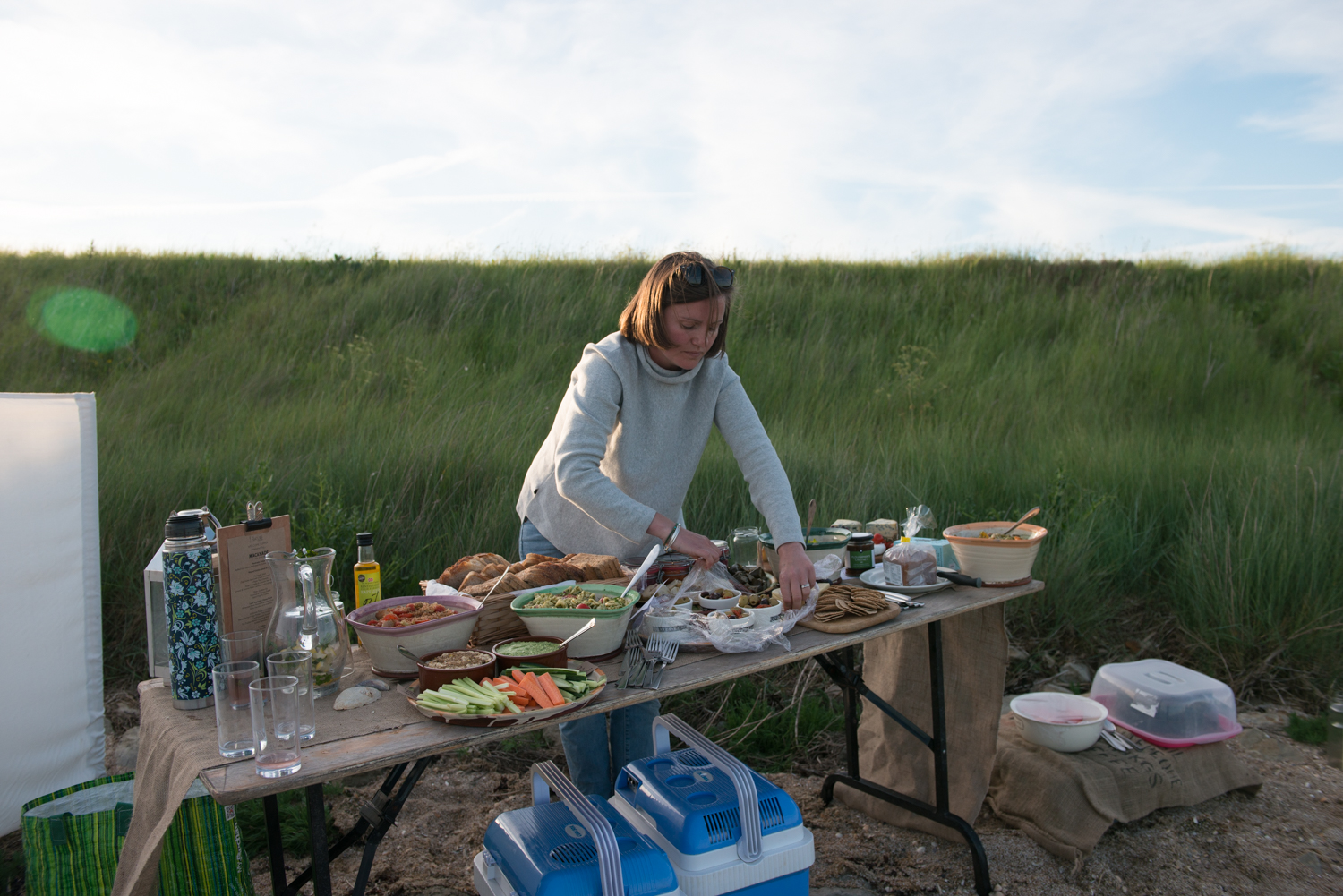 The Nature Sessions, a feast on the beach provided by Macknade, beach picnic