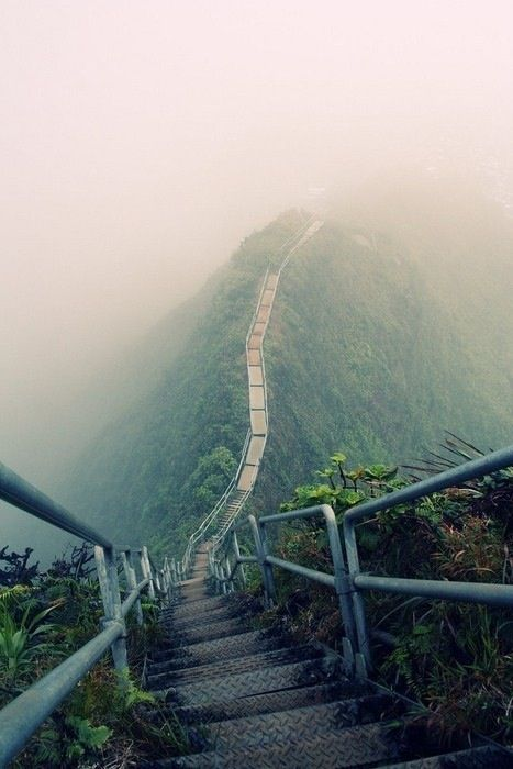 The Stairway to Heaven, also known as the Haiku Stairs, is a series of 3,922 steps in Oahu, Hawaii on the Koolau Mountain Range