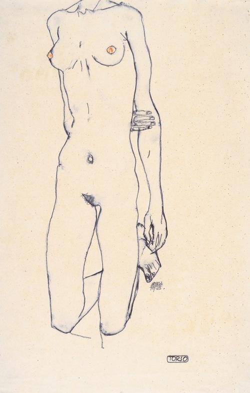 Egon Schiele -Torso (1913)