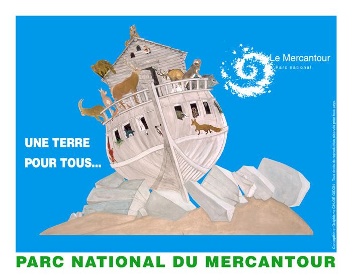 """Affiche/Poster """"Une Terre pour Tous"""" réalisée pour le Parc National du Mercantour."""