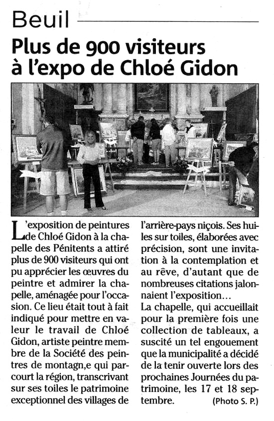(Nice-Matin - Beuil, Septembre 2011)