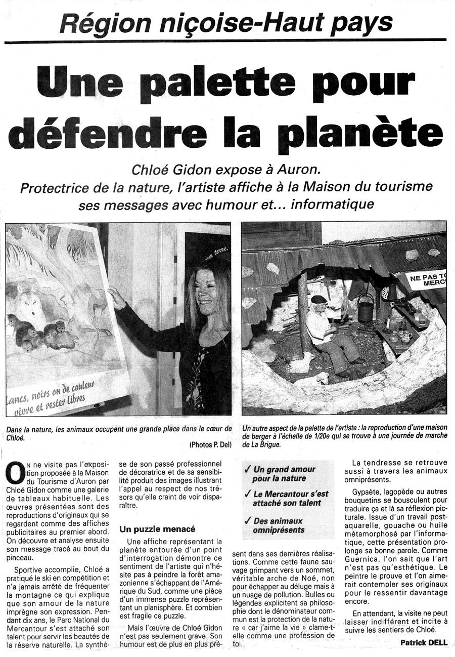 (Nice-Matin - Auron, Janvier 2000)