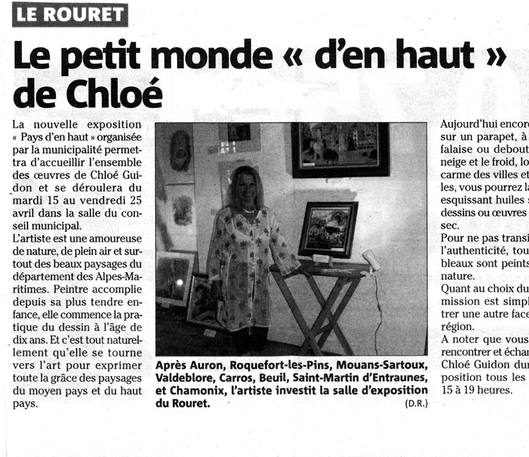 (Nice-Matin - Le Rouret, Avril 2014)