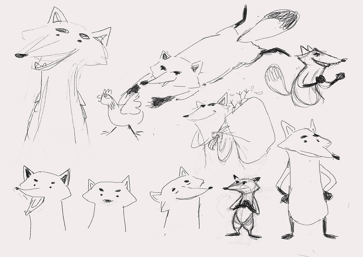 Fantastic Mr. Fox - Character Sketches