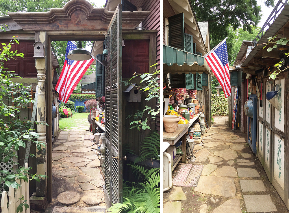 A funky, functional side yard in Memphis, Tennessee