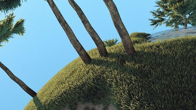 Messing with nature . . . . #Cinema4d #c4d #maxon #3d #render #Still #Motiondesign #motiondesigner #Worldmachine #terrain #generation #octane #otoy #tree #handmade #grass #texture #progressbeforeperfection