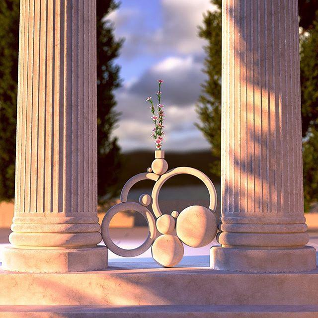 Balance . . . . #Cinema4d #c4d #maxon #3d #render #Still #Motiondesign #motiondesigner #Octane #otoy #composition #layout #setdesign # #abstract #contemporary #dailyrender #progressbeforeperfection #forester #balance #soothing #Greek #pillars