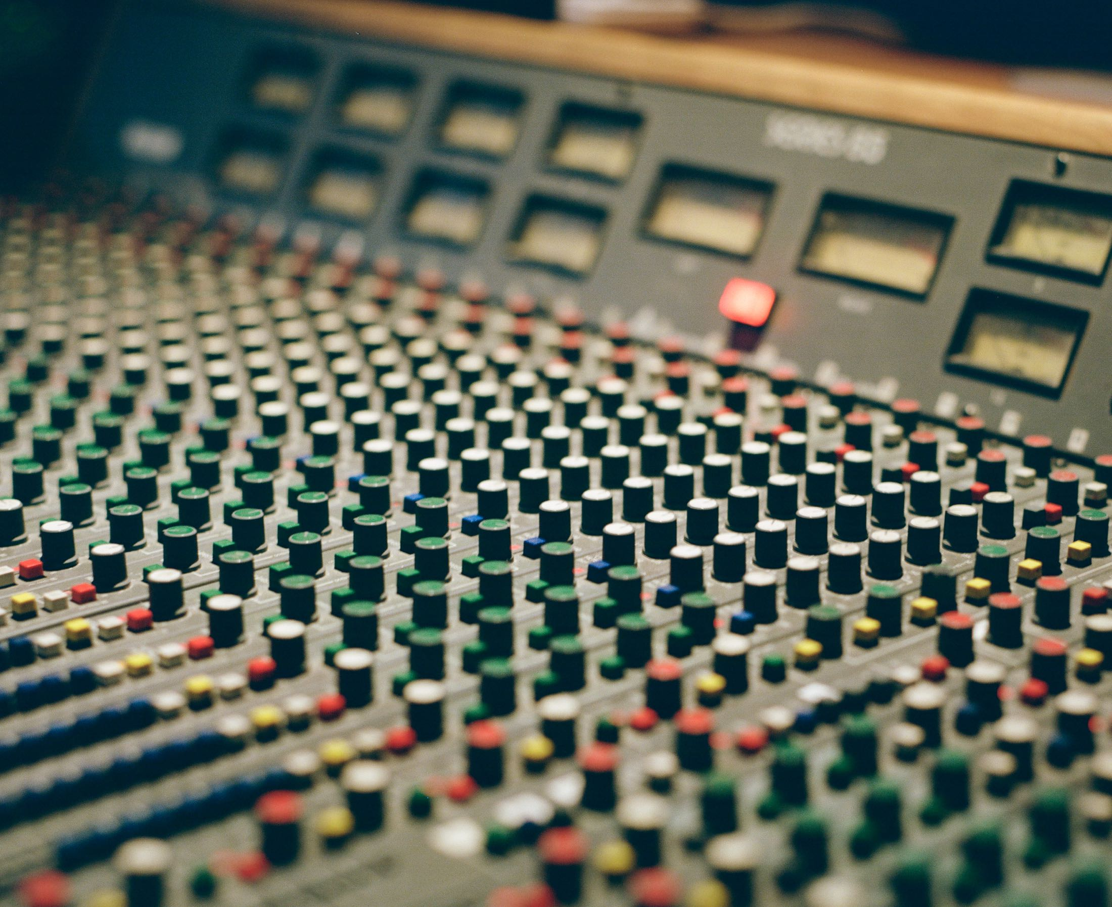 Trident Series 65 mixing console in Look to Listen control room