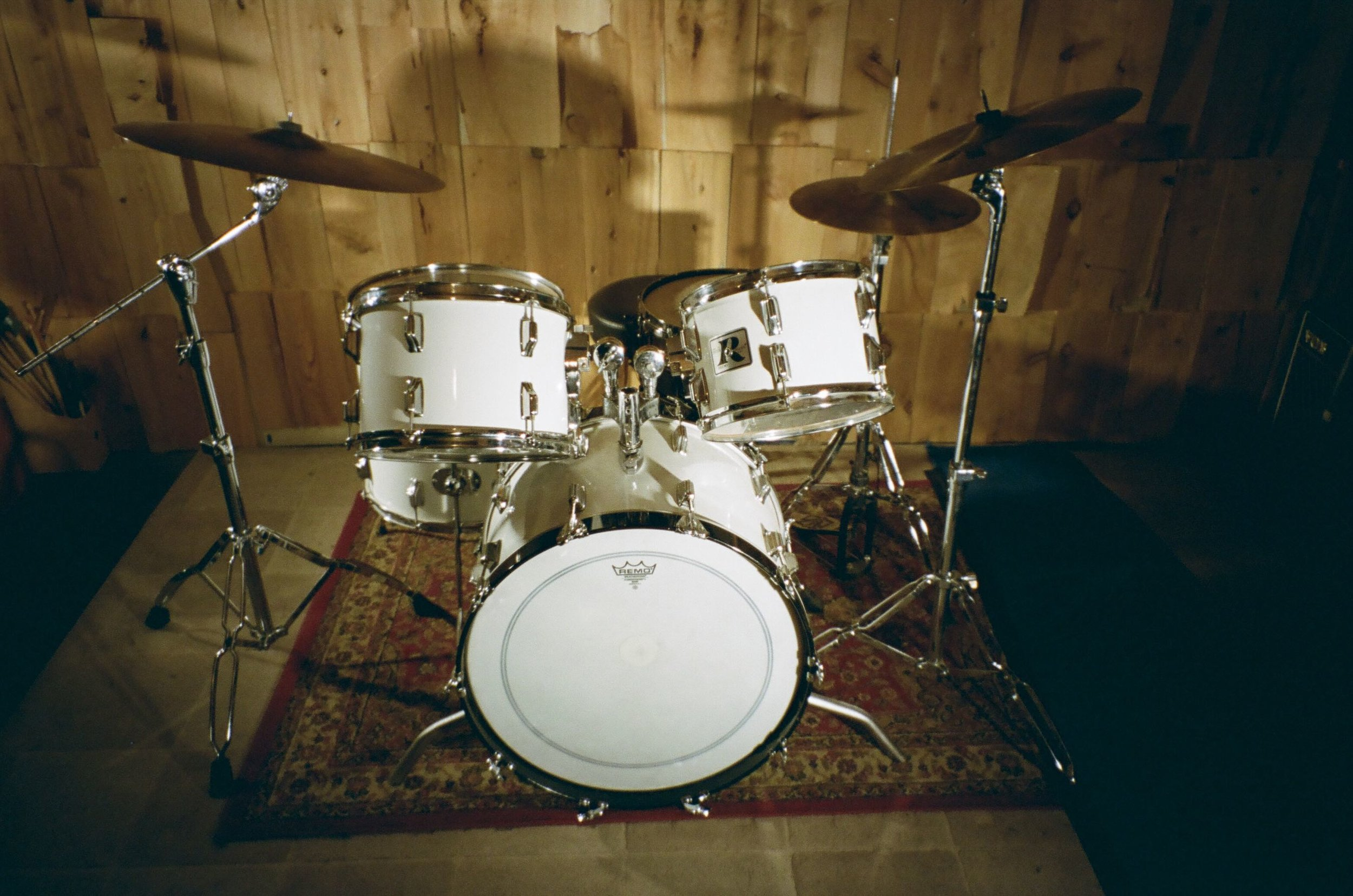 1970's vintage Rogers drumkit at Look to Listen Studios