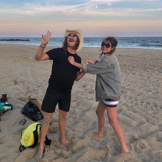 summer ain't over til @def.grls say so /// HBD mark da sandman #goldenhour #rockawaybeach