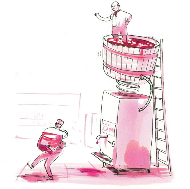 Pump It Up  Bulk wine harks back to the old days of France     Hemispheres Magazine