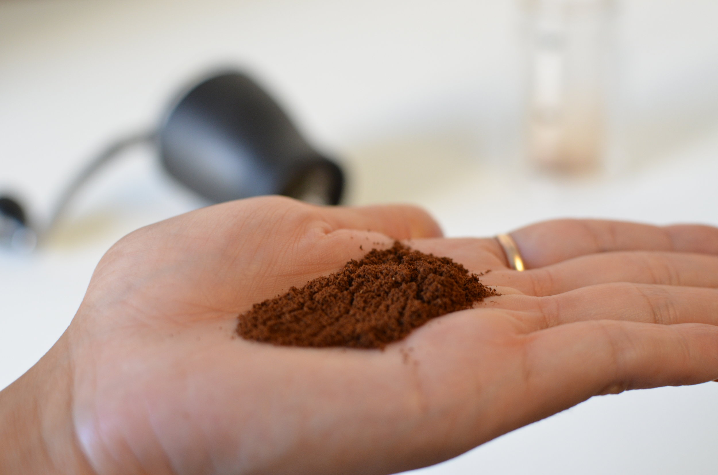 Fine = espresso coffee grind