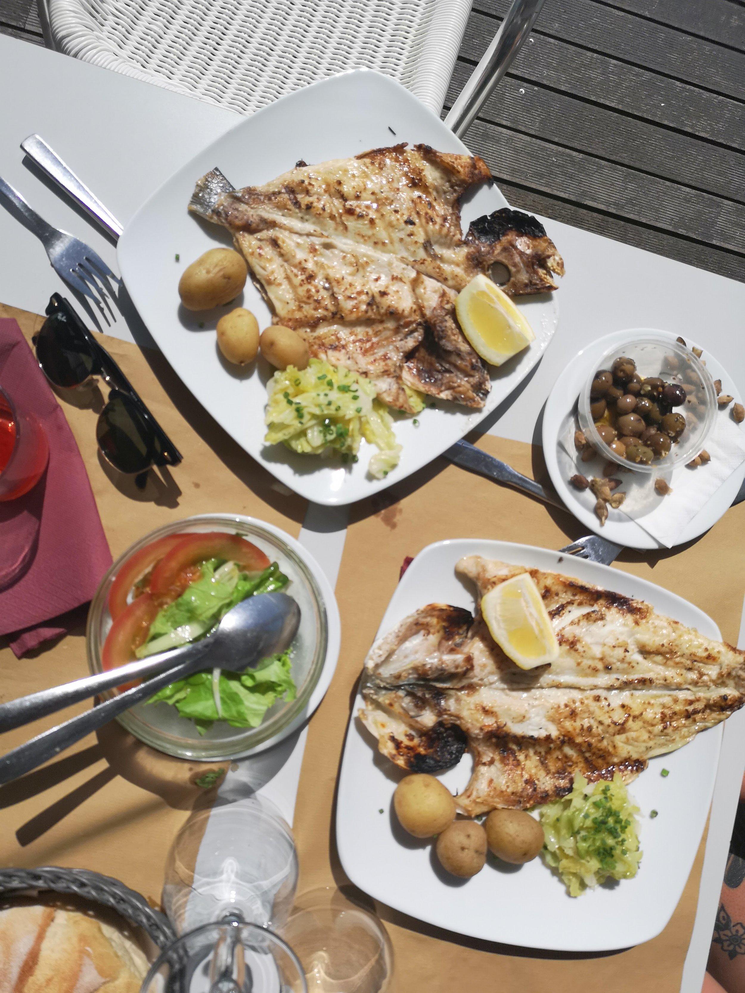 Best Fish at RUN restaurant on the beach