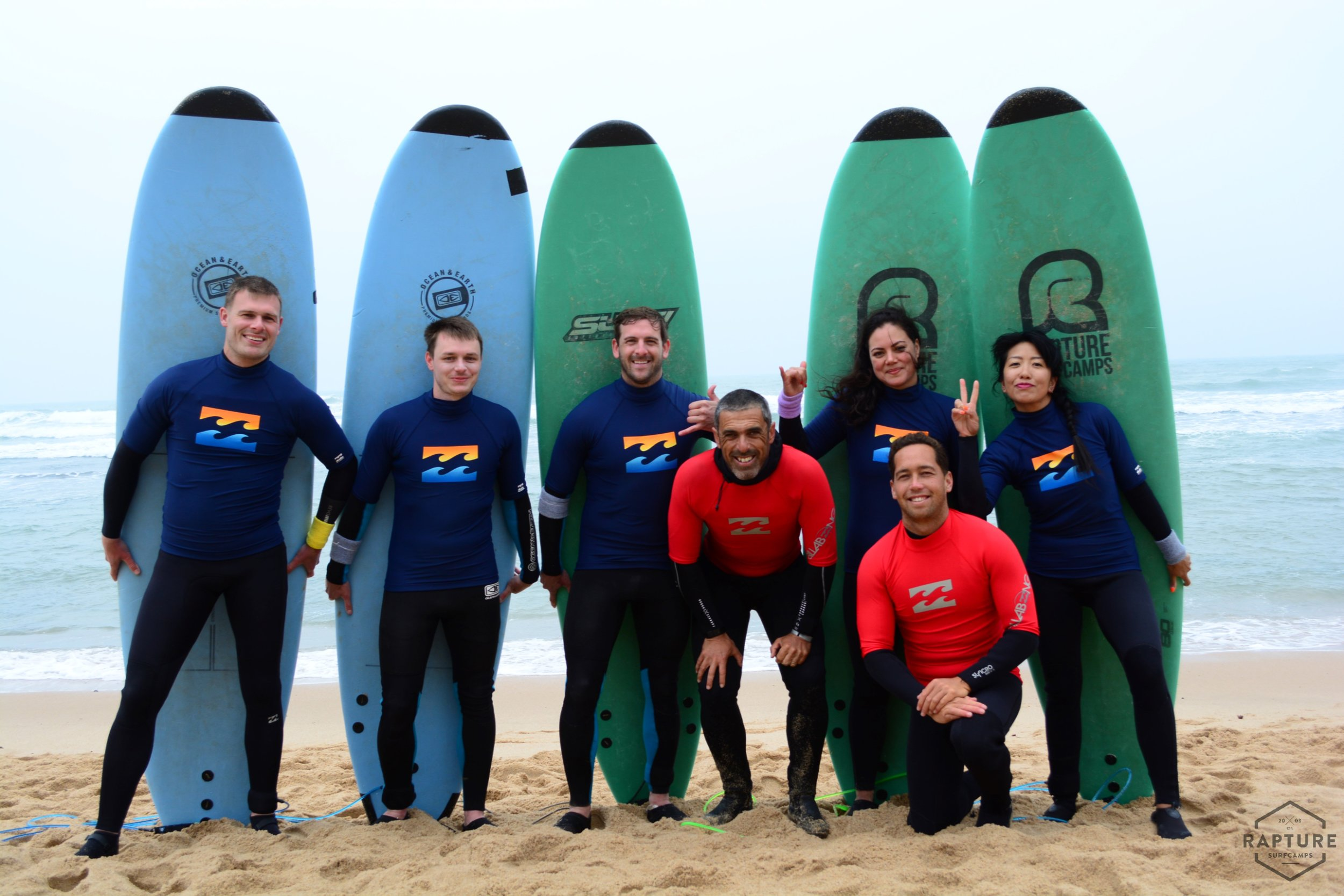 With our surf instructors