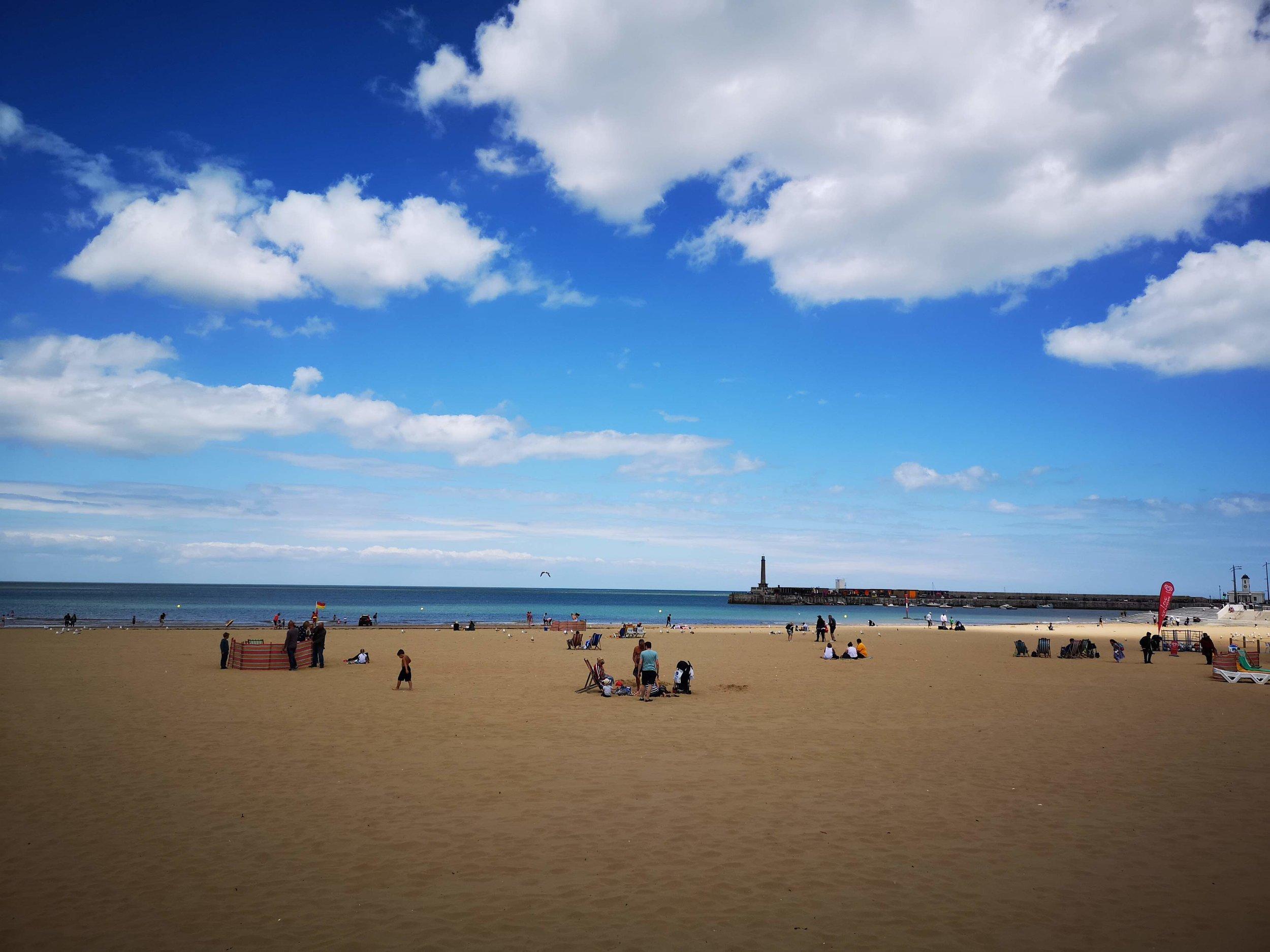 Margate beach front