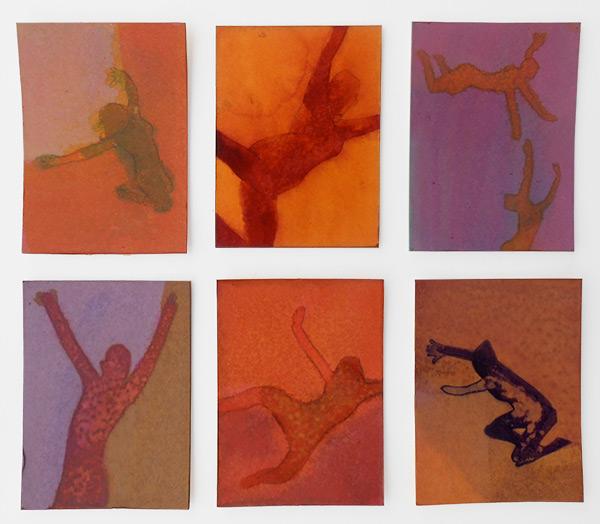 Six Studies | 2015,   ink on board,  22 x 25 cm
