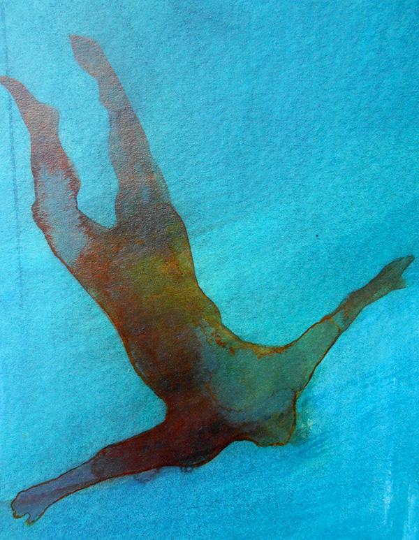 Soaring 2014,  ink on board, 19 x 15 cm