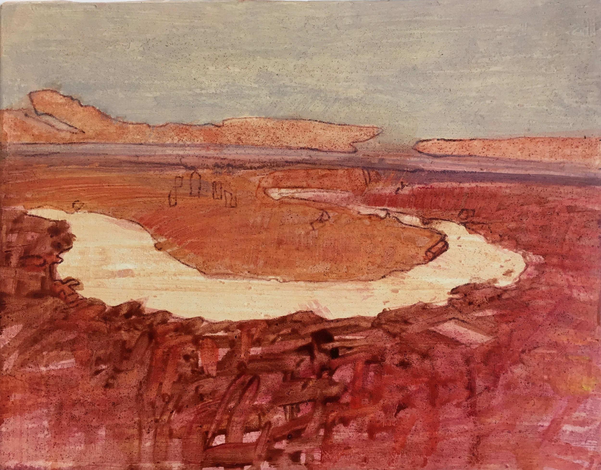 river 1, 18x23cm oil on gesso panel