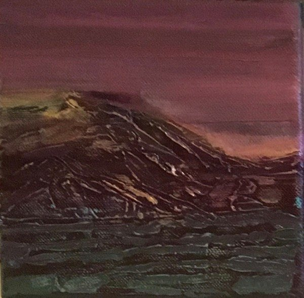 Iceland 2,  15  x15  cm,  oil on canvas