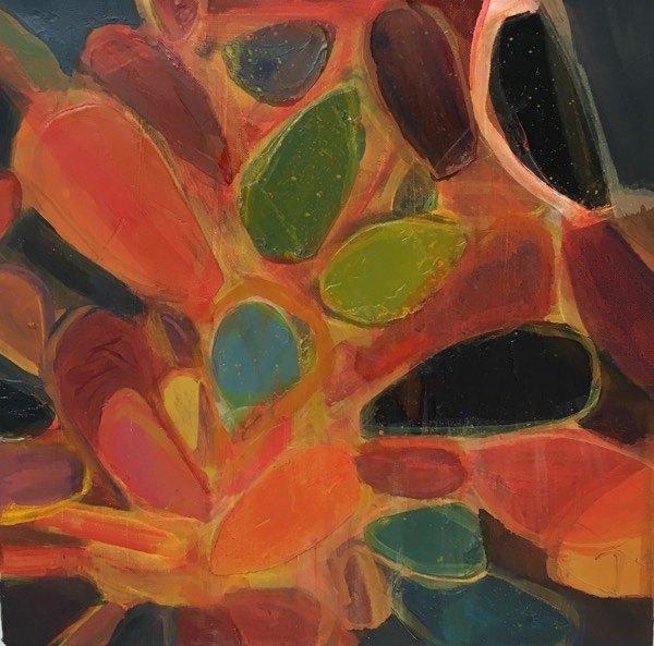 cacti 6,  30x  30cm, oil on canvas