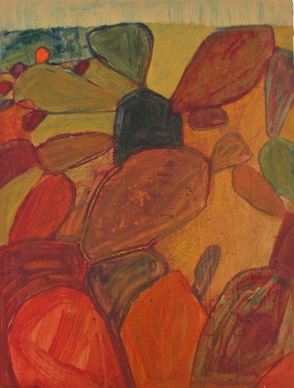 cacti 3,  30x26  cm,  oil on canvas