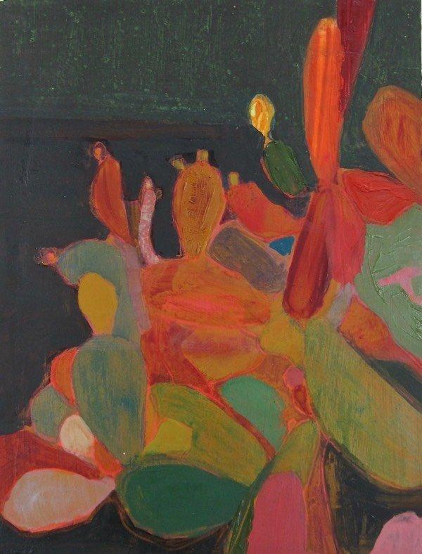 cacti 2,  30x26  cm,  oil on canvas