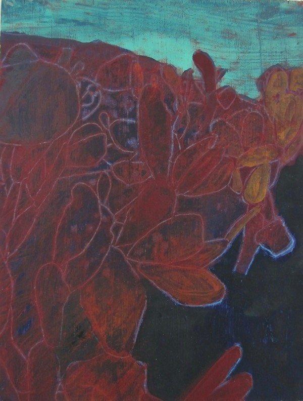 cacti 1,  30x26  cm,  oil on canvas