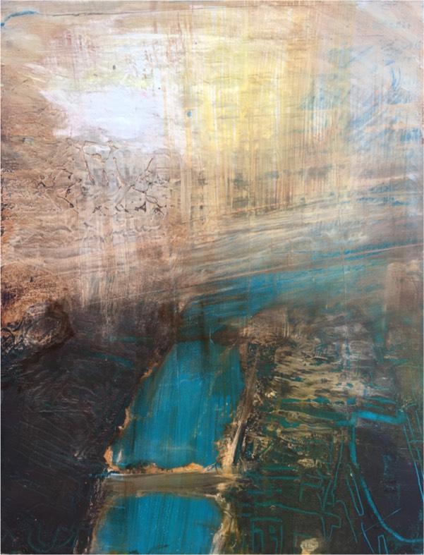 river 4 2017 , oil on board, 23 x 18cm  sold