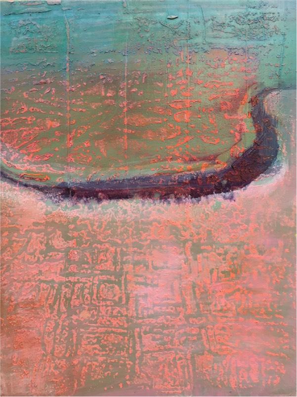 river 12 2017,  oil on board, 23 x 18cm
