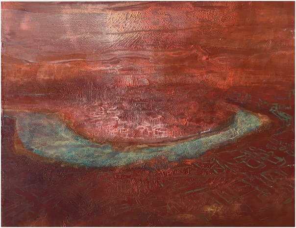 river 23 , oil on panel, 20 x 26cm