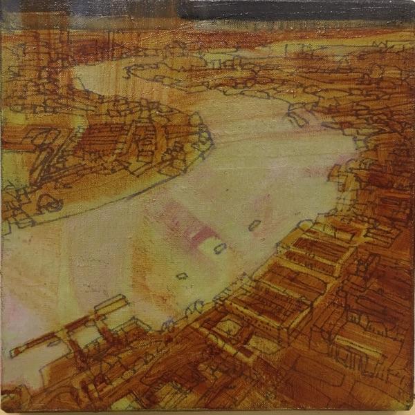 untitled I 2017 , oil on linen, 20 x 20cm  sold