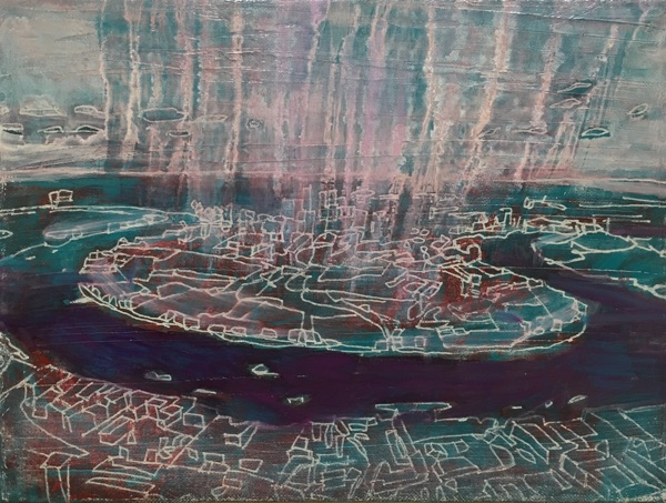 untitled II 2017 , oil on linen, 24 x 30cm  sold
