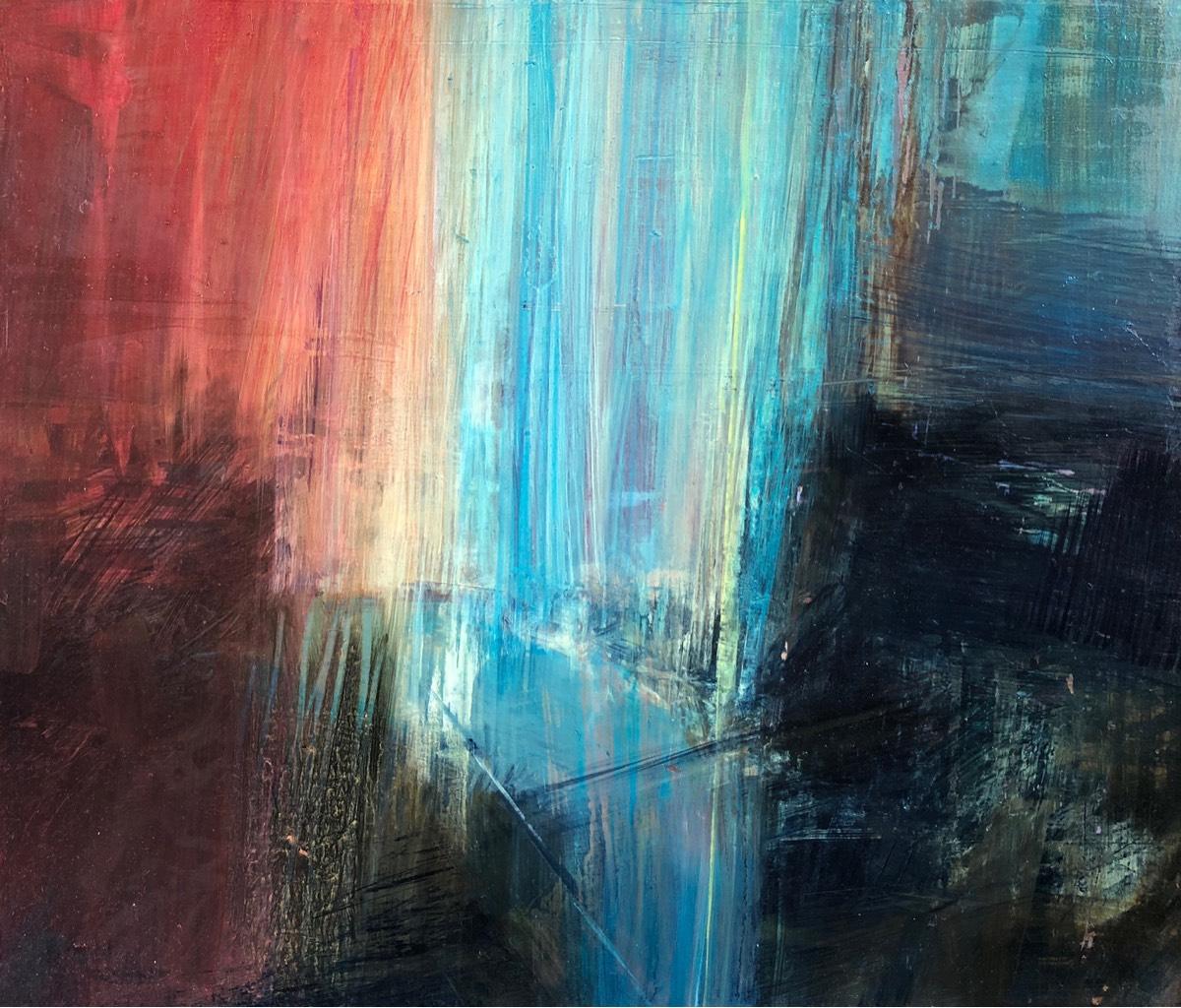 Transcendence 2019 , oil on panel, 30 x 35cm