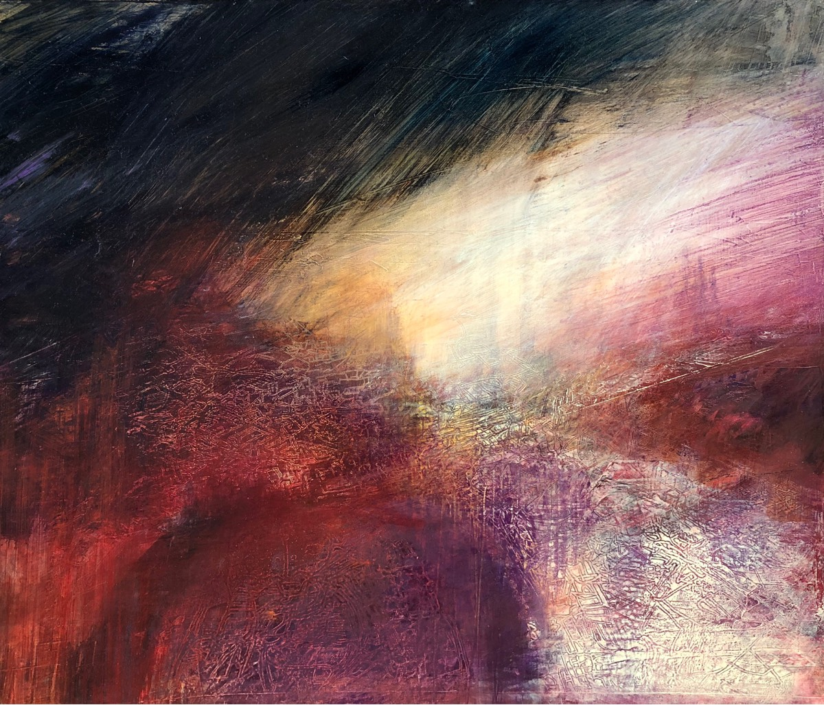 Tempest 2019 , oil on panel, 52 x 61.5cm