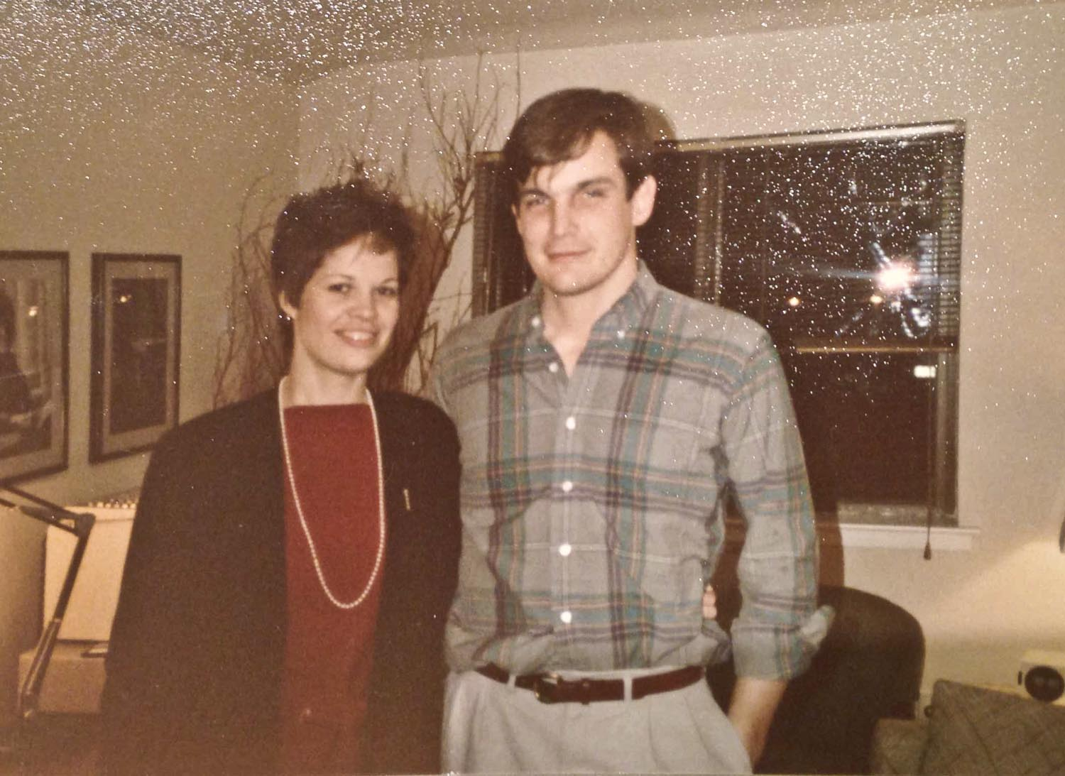 Camilla during her venture capital days in NY, 1985, with her cousin Jay.