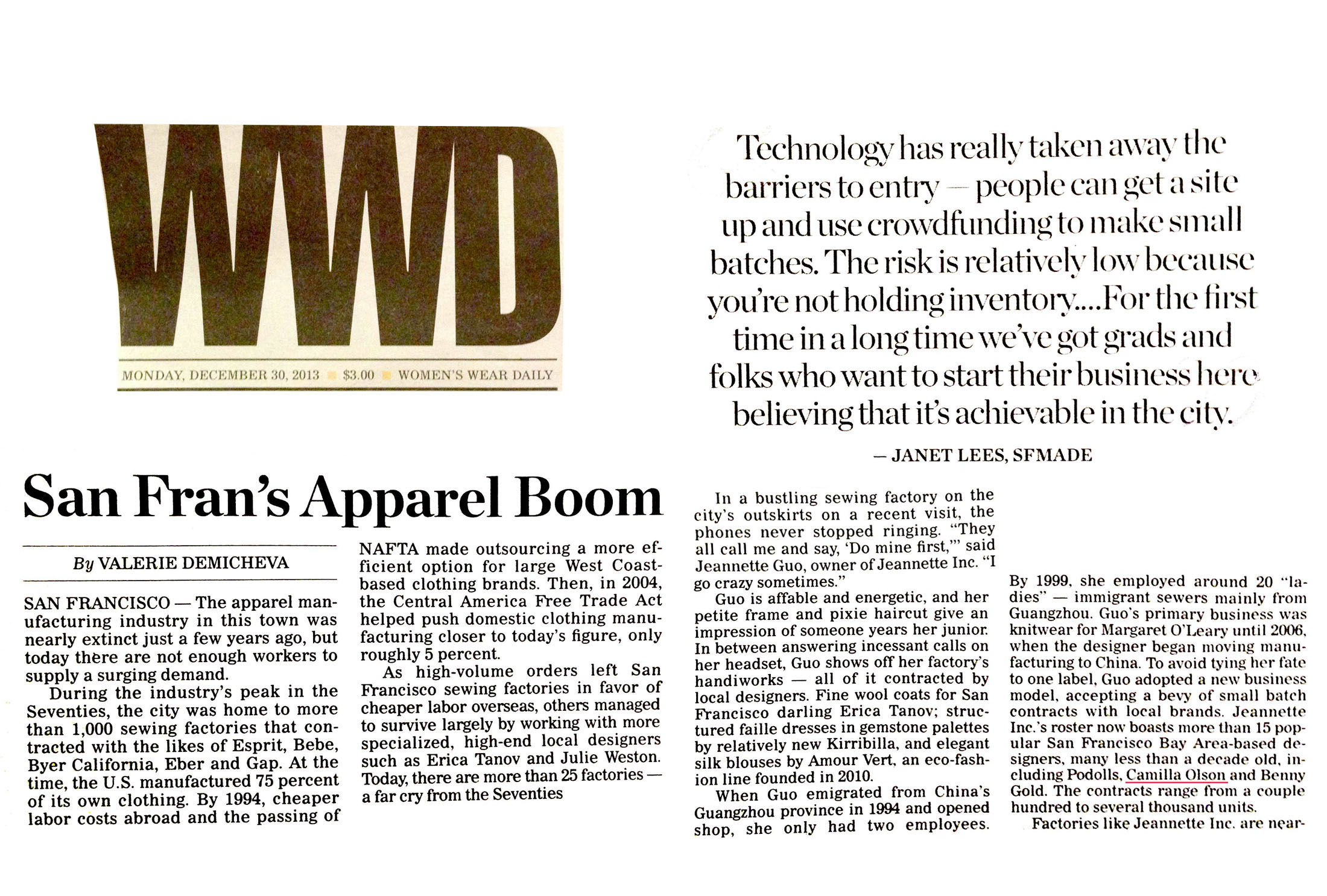 WWD Apparel Boom