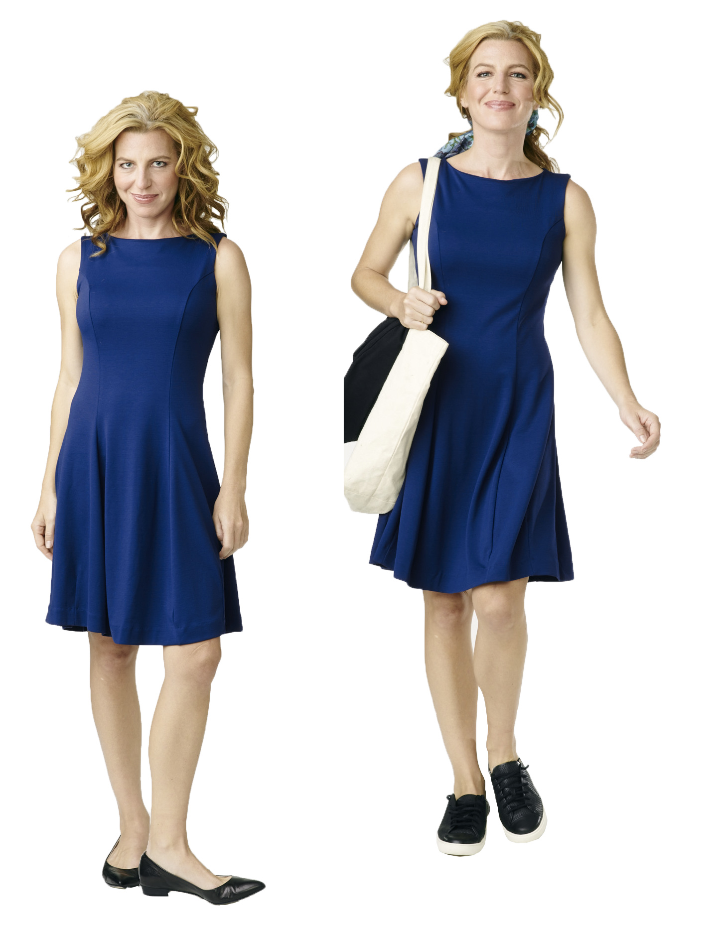 Our Anywhere dress is the perfect women's work clothing for so many different moments in your life.