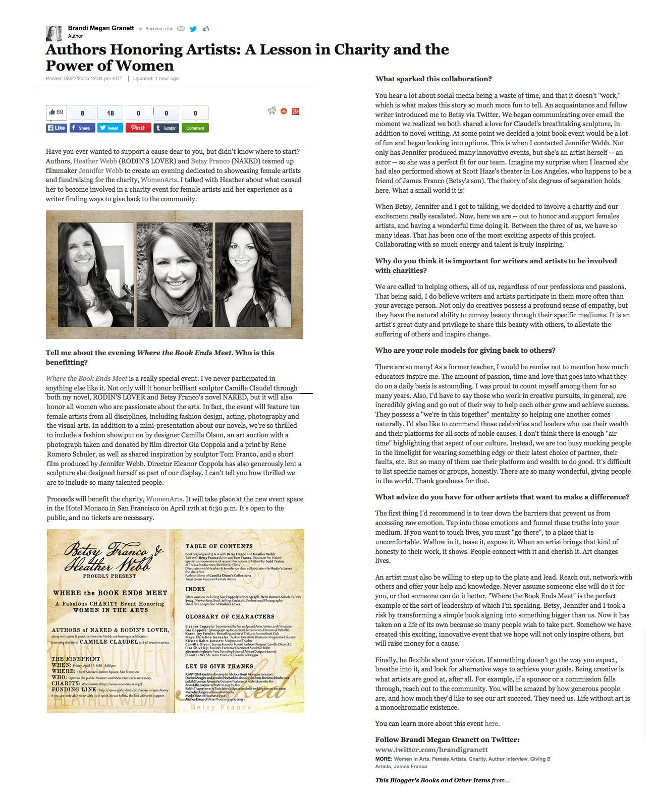 Huffington Post: Authors Honoring Women