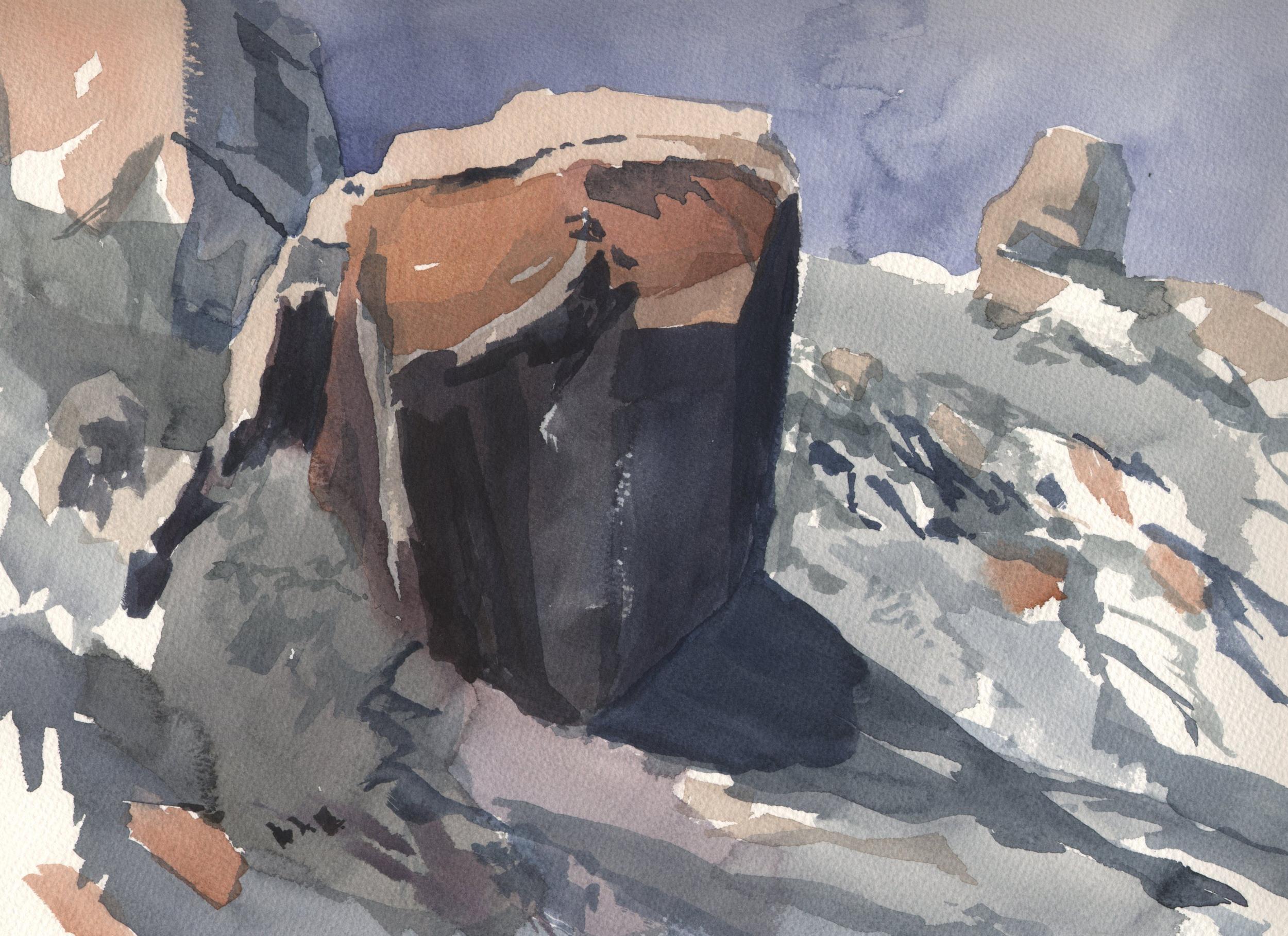 Watercolor Mount Tam Rocks 1.jpg