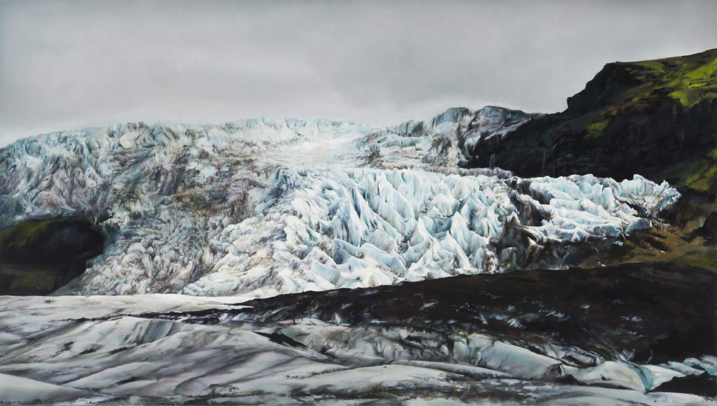 """glacier   34"""" x 60""""  oil on canvas  2014"""