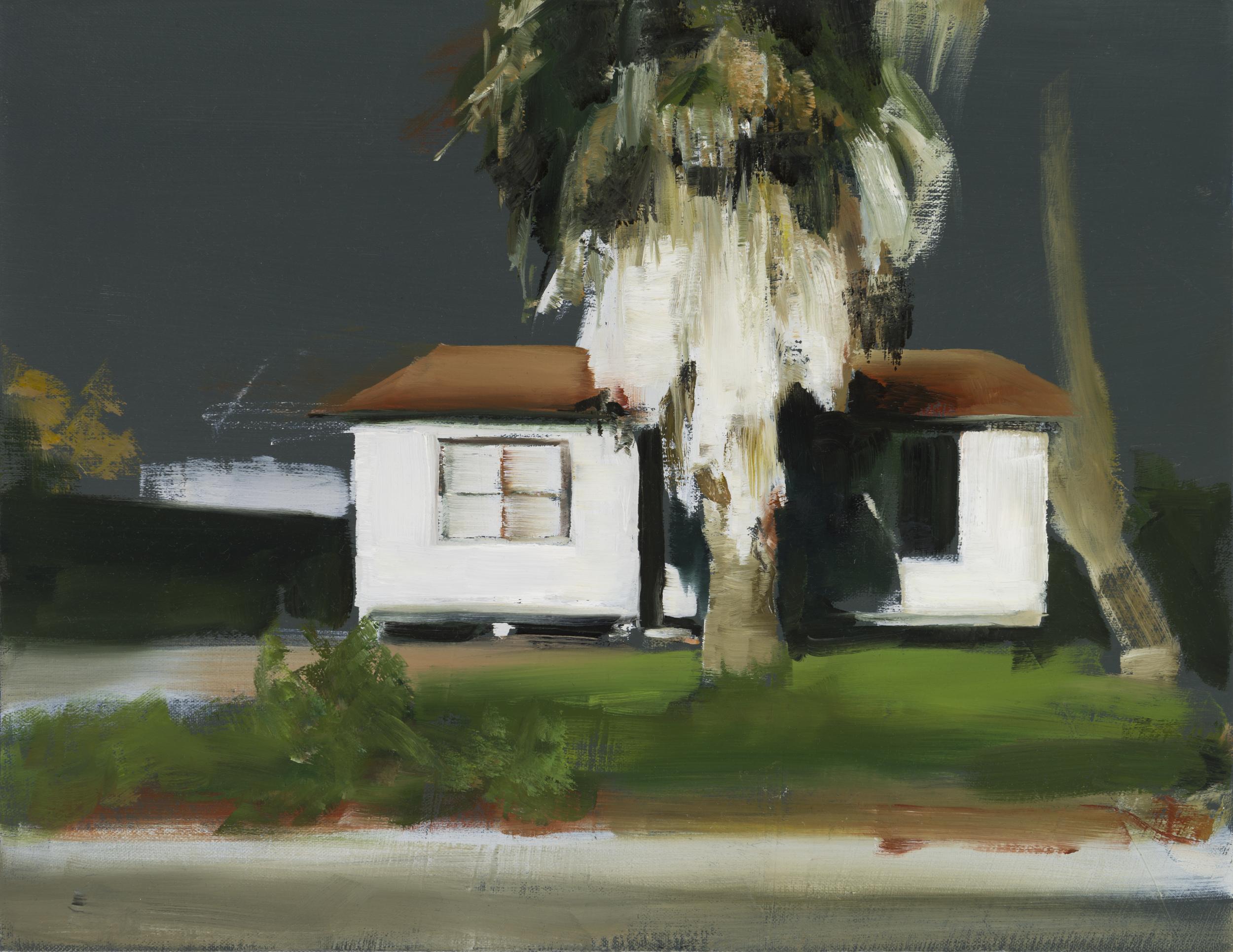 """house study 1   14"""" x 18""""  oil on canvas  2014"""