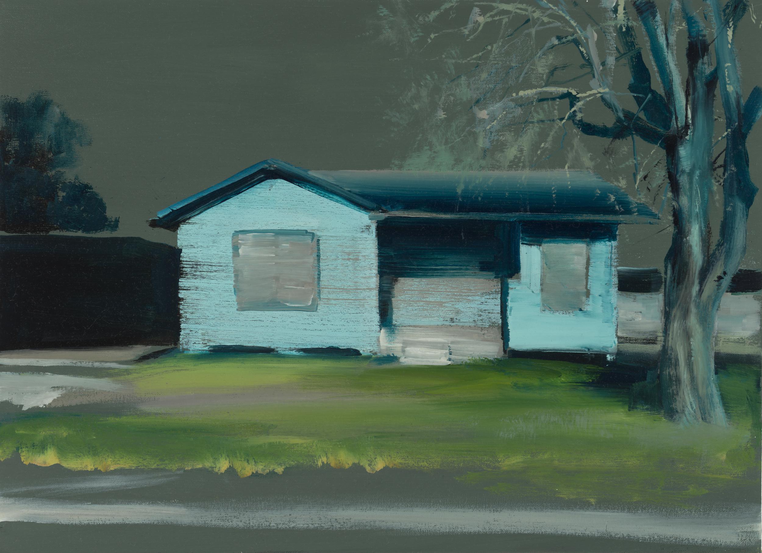 """house study 2   16"""" x 22""""  oil on canvas  2014"""