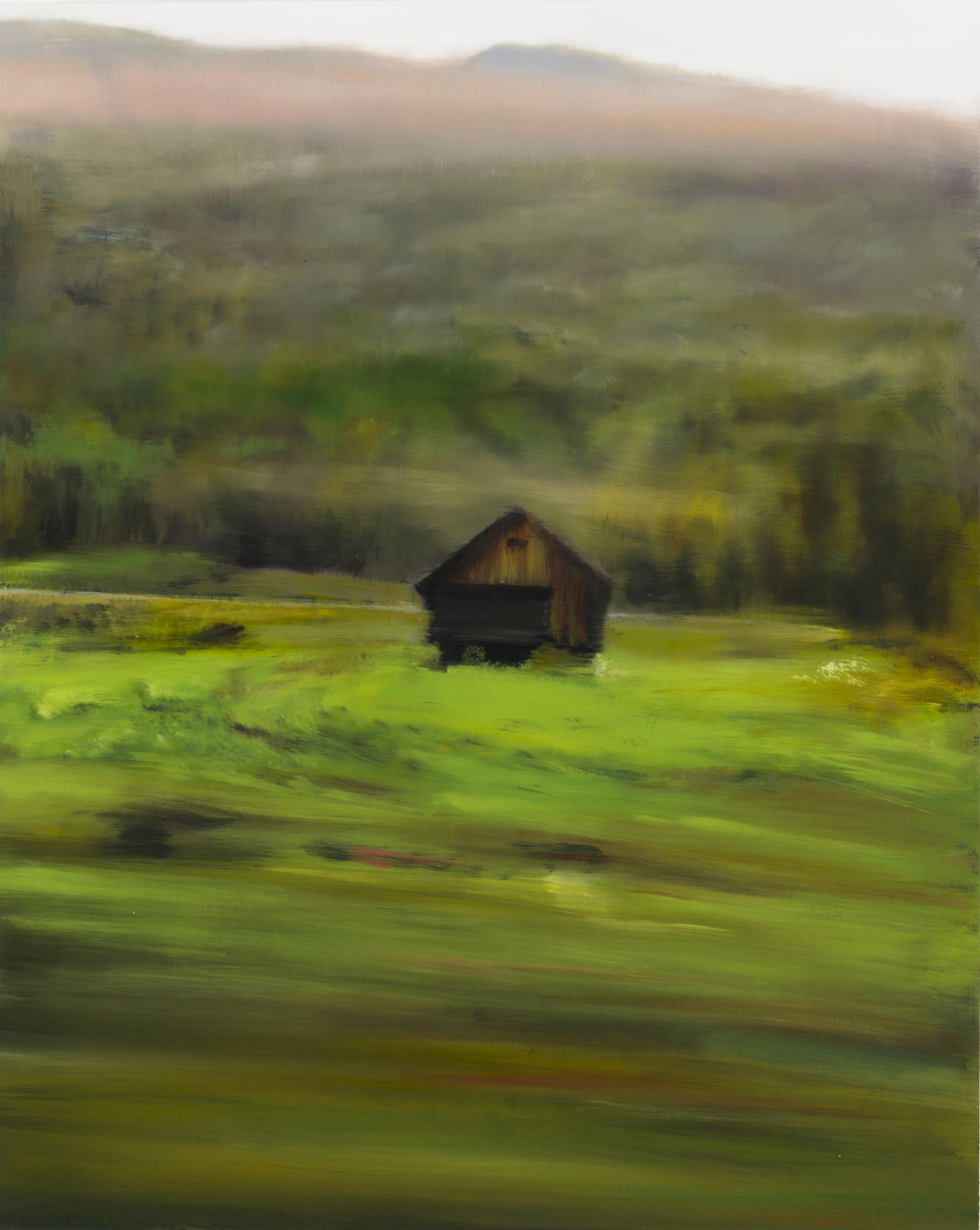 """barn •  20"""" x 16""""  oil on canvas  2014"""