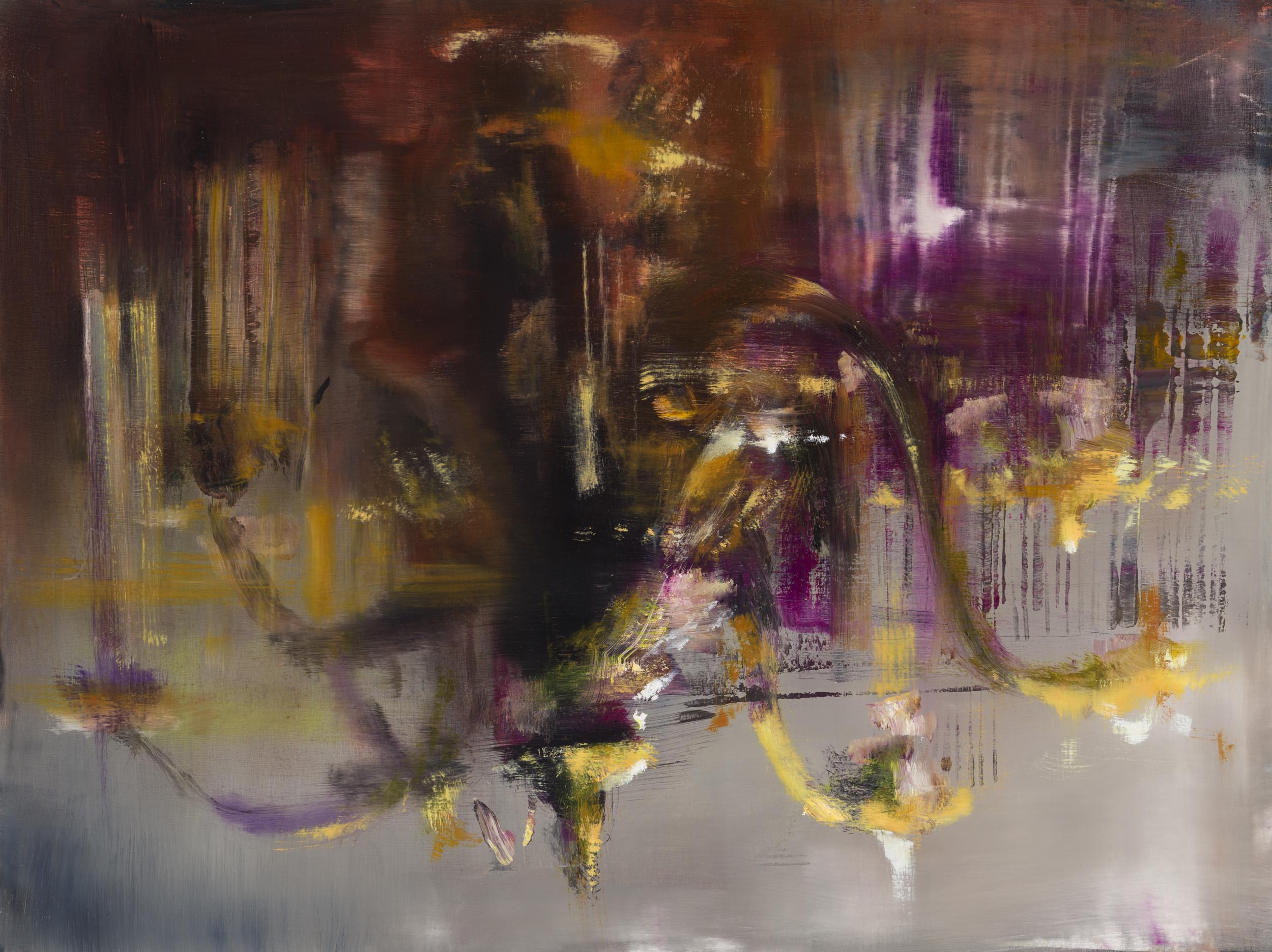 "chandelier  •   18"" x 24""  oil on panel  2013"