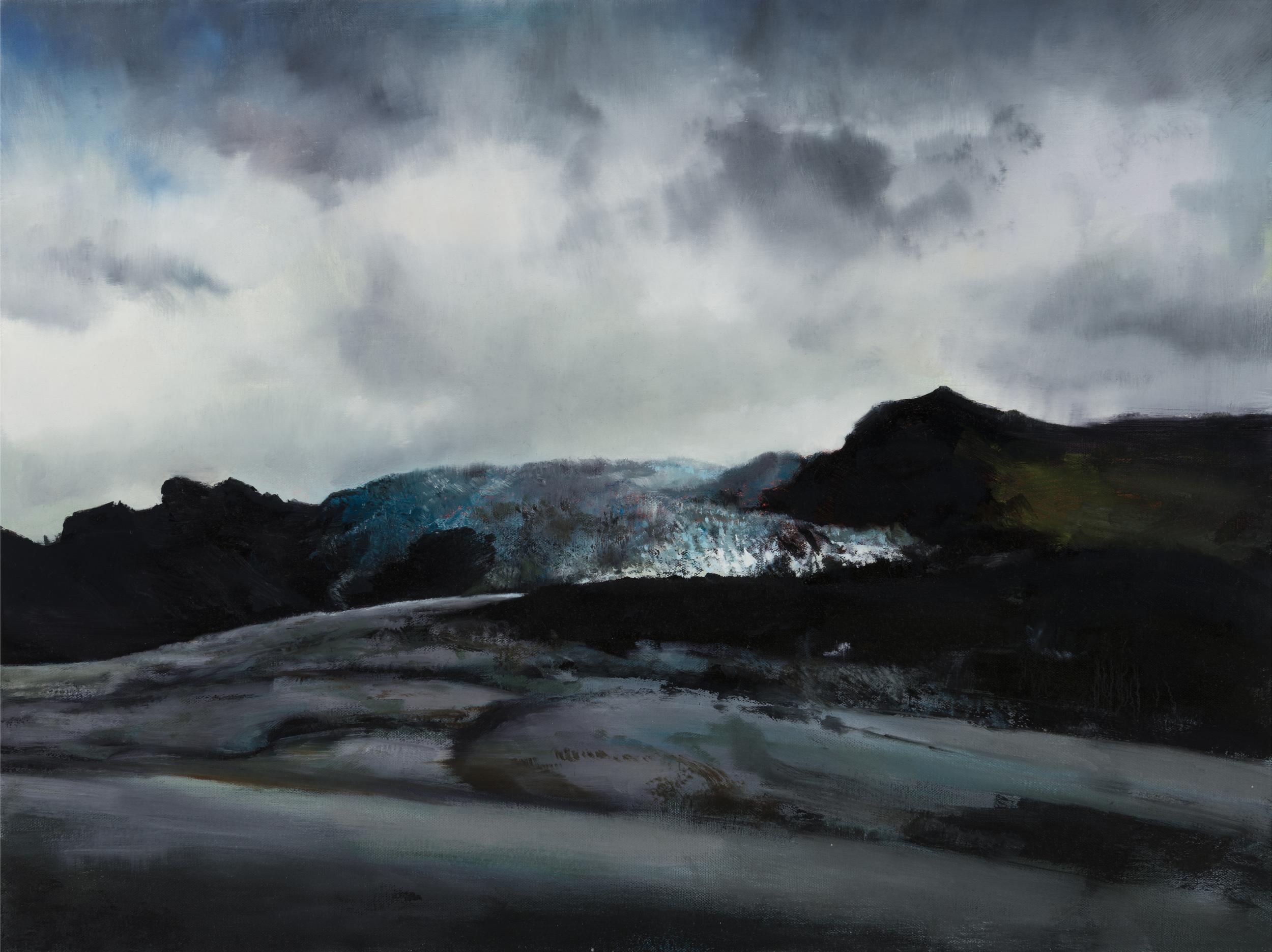 """glacier 2   18"""" x 24""""  oil on canvas  2014"""