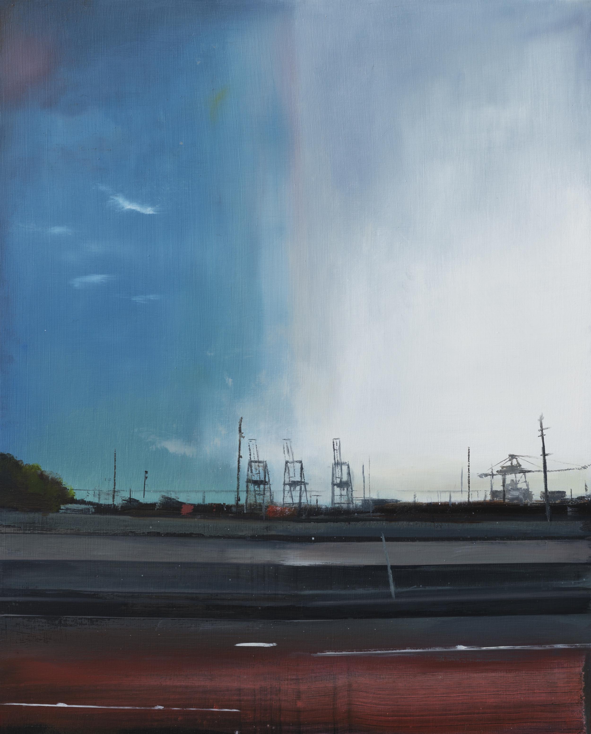 """oakland study  •   20"""" x 16""""  oil on panel  2013"""