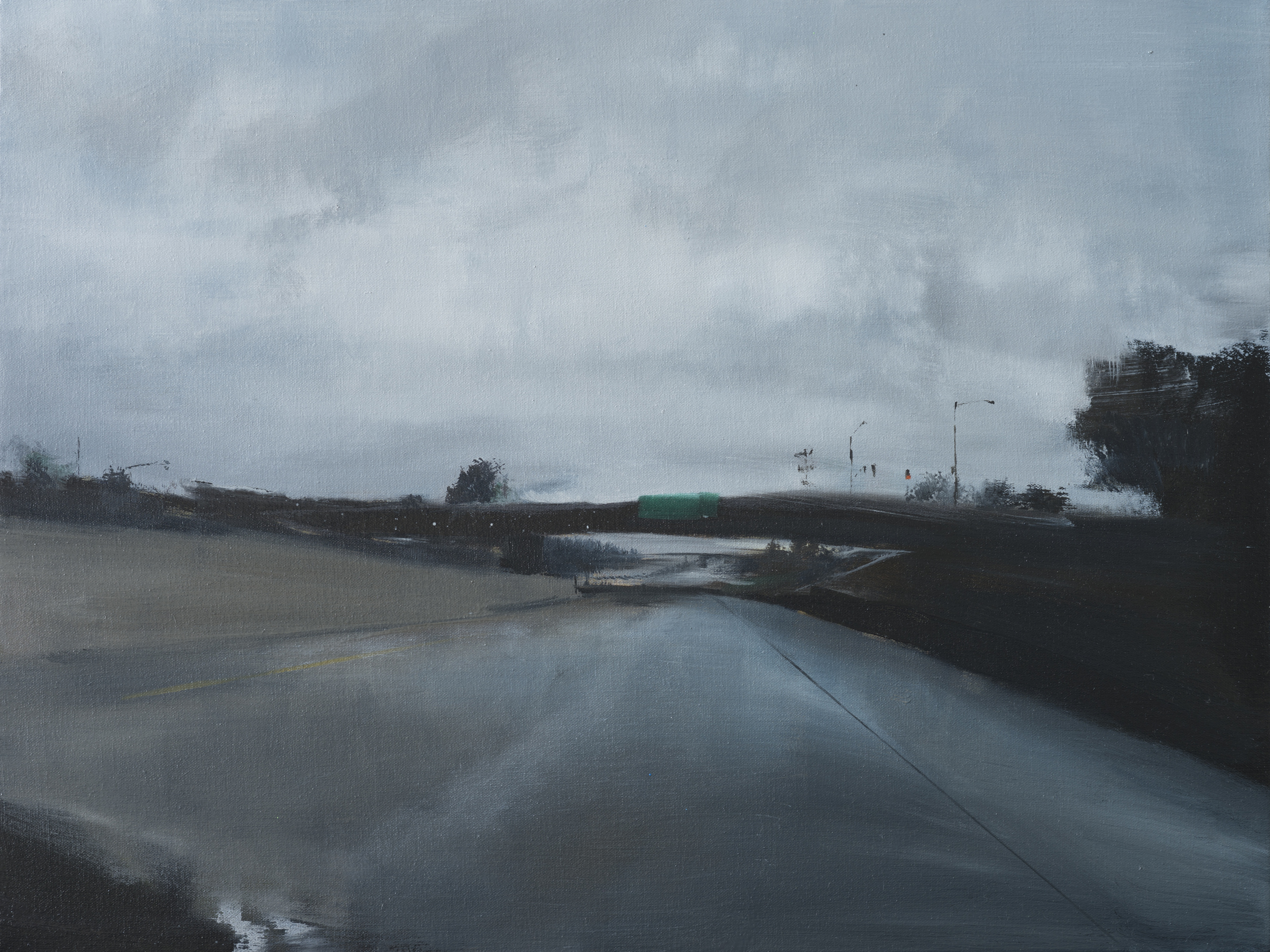 "hwy 4   •  18"" x 24""  oil on canvas  2013"